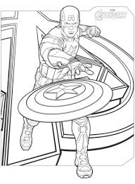 Click To See Printable Version Of Avengers Captain America Coloring Page