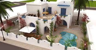 plan maison tunisienne 3d