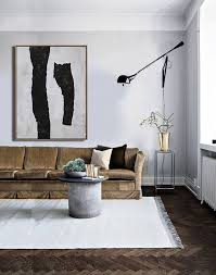 mid century moderne kunst wohnzimmer kunst dekor große wandkunst schwarz weiß braun ethan hill no h145v