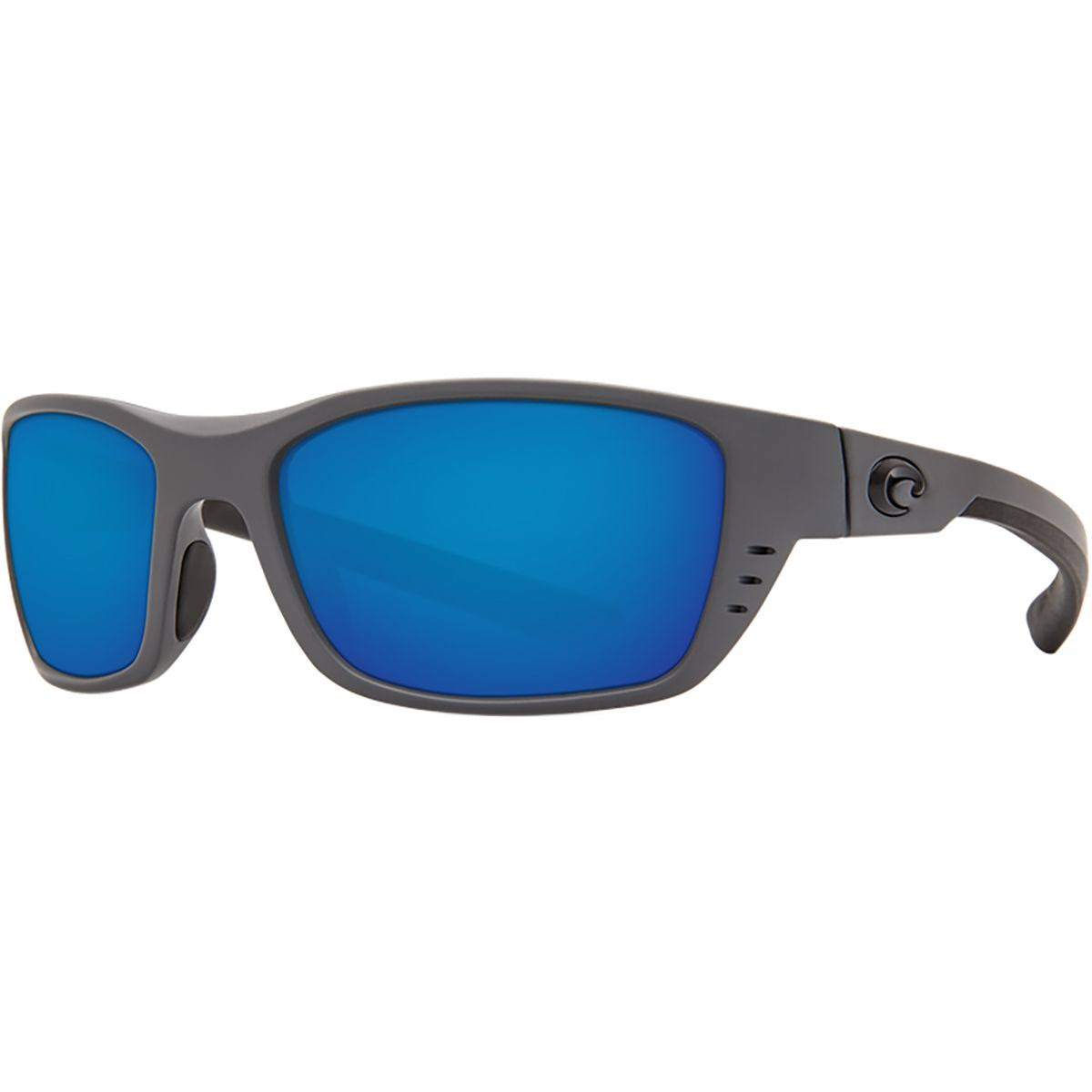 Costa Del Mar Whitetip Sunglasses - Matte Gray Frame, 580p Blue Mirror