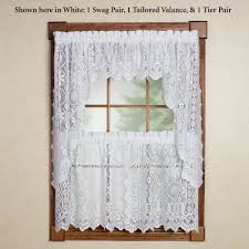 Sears Curtains And Valances by Hopewell Lace Tier Window Treatment