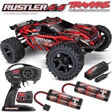 100 Stadium Truck Traxxas 110 Rustler 4x4 Brushed WTQ Radio Extra
