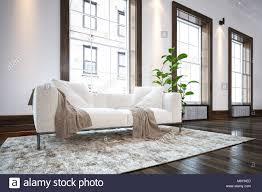 große geräumige luxuriöse minimalistischen wohnzimmer mit