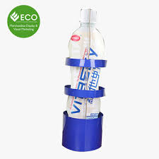 New Design Corrugated Cardboard Water Bottle Display Stand Rack Wholesale