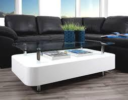 rectangulaire blanc table basse laque pas cher brillant metal glam