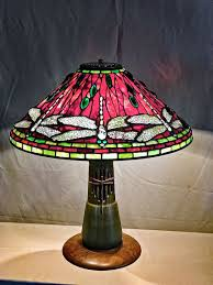 Tiffany Style Dining Room Lights Butterfly Table Lamp Stained Glass Torchiere Fan