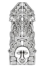 Totem Inspiration Inca Maya Azteque 5 Mayas Aztèques Et Incas