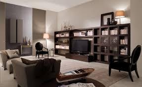 elegant dark wood living room furniture wrapping modern interior