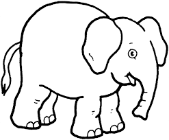 Funny Elephant Coloring Page Printable Pages Click The To View Version Or Color It Online Compatible Ipad And Android Tablets