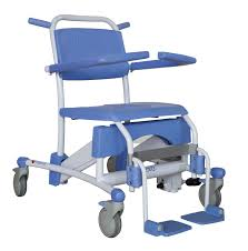 Handicap Toilet Chair With Wheels by Shower Chair With Cutout Seat On Casters Commode Flexo