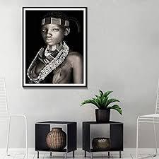 zcgy afrikanische frauen wandkunst porträt home decoration