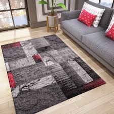 designer teppich wohnzimmer inneneinrichtung modern rot vimoda homestyle