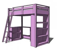 how to build free full size loft bed plans pdf full twin bunk bed