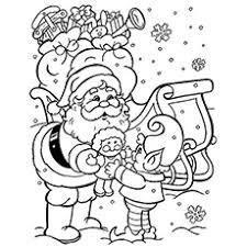 The Christmas Season During Winter Coloring Page