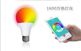 new e27 light bulb color change led light blue tooth intelligent