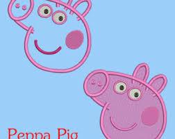 Peppa Pig Pumpkin Carving Ideas by Peppa Pig Applique Etsy