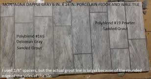Grey Tiles With Grey Grout by Marazzi Montagna Dapple Gray 6 In X 24 In Porcelain Floor And