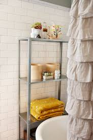 ruffled shower curtain in Bathroom Scandinavian with Lowes Ideas