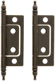 pair of 2 non mortise cabinet hinges in oil rubbed bronze house