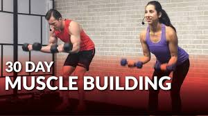 30 Day Muscle Building Program At Home 💪 HASfit Free Full