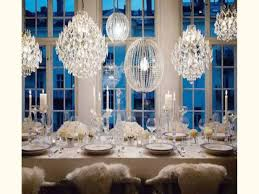Table Centerpieces Cheap Wedding Reception Decorations With Crystal Lamps And Candles Under Pendant