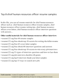 Top 8 Chief Human Resources Officer Resume Samples In This File You Can Ref
