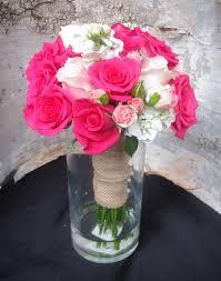 Chickabloom Flowergirlbouquet Hot Pink Bouquet Roses Wedding Bride Vancouver Portland Oregon Washington Camas