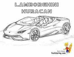 Lamborghini Huracan Sports Car Coloring Page 3 4 Top View At YesColoring
