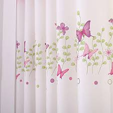 Curtains For Girls Room by Cute 1piece Pink Eyelet Butterfly Finished Curtain Kids Curtains