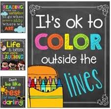 Chalkboard Colorful Classroom Poster Quotes