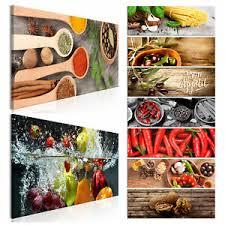 details zu küche leinwand deko bilder wandbilder gewürze kräuter bild esszimmer 14motiv