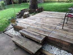 Pallets Diy Wood Deck Best 25 Decking Ideas On Pinterest