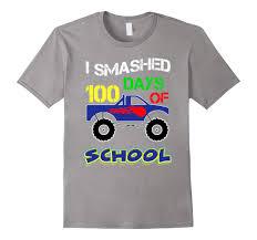 100 Monster Truck Halloween Costume 100th Day Of School Funny Shirt Kids Themeah My Shirt