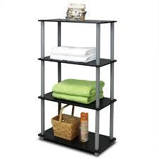 Sterilite 4 Shelf Cabinet by Amazon Com Furinno 99557bk Gy Turn N Tube 4 Tier Multipurpose