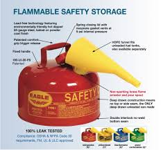 Flammable Safety Cabinets Used by Eagle 2 Gallon Diesel Fuel Can Yellow Safety