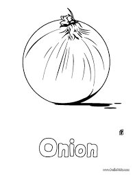 There Is The Onion Coloring Page Perfect Sheet For Kids More Content On