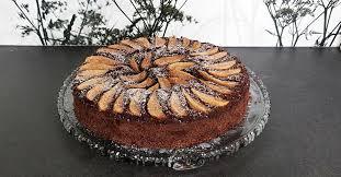 schokoladiger birnenkuchen low carb mit genuss