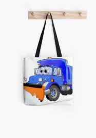 100 Blue Dump Truck Snow Plow Cartoon Tote Bags By Scott Hayes Redbubble