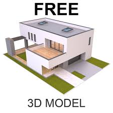 100 Modern House 3 ArtStation Free D Model Md Hoque
