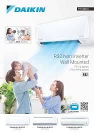 daikin r32 non inverter wall mounted ftv wifi series air