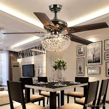 2018 Crystal Ceiling Fan Wood Leaf Antique Light Chandelier With Remote Control Dining Room Living Pendant Lamp From Ok360 5596
