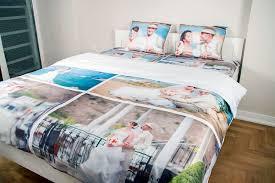 linge de lit personnalisé avec photo texte ou design