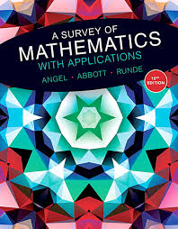 A Survey Of Mathematics With Applications 10th Edition
