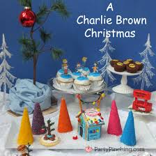 Charlie Brown Christmas Tree Amazon by A Charlie Brown Christmas Theme Party Ideas With Snoopy Peanuts Gang
