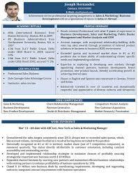 Sales And Marketing CV Samples