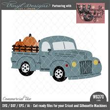 WG370 Harvest Vintage Truck Wood Rails | Vinyl Designs Cut And Create
