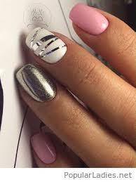and grey nail design