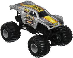 100 Monster Jam Toy Truck Videos Amazoncom Hot Wheels MaxD Vehicle Silver 124 Scale