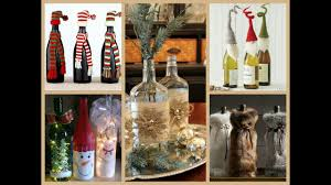 Decorative Wine Bottles With Lights by 50 Christmas Bottle Decorating Ideas Youtube