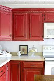 Rustic Red Kitchen Cabinets Fabulous Catchy Interior Design For Remodeling With Ideas